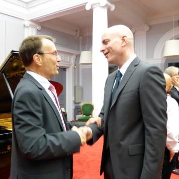 Le Premier Président et Sylvain Bottineau
