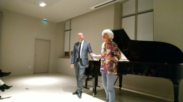 Sylvain Bottineau avec Nadia Marengo, Présidente de l'ACEF 77